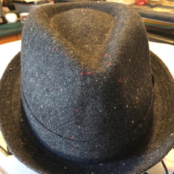 e4f7dc141fbe6 Gray Fedora with Fabric Band 🎩🦋NWT Tweed Wool. Boutique. Epoch